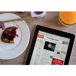Los usuarios del iPad desayunan y cenan con la tableta de Apple
