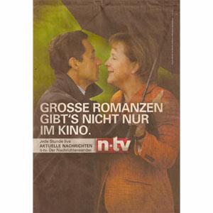 Nicolas Sarkozy y Angela Merkel se enamoran… en un anuncio
