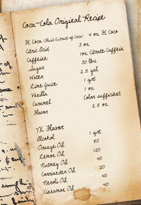 receta original coca cola