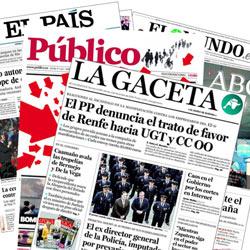 Los diarios españoles plantaron batalla a la crisis en 2010 con el ahorro