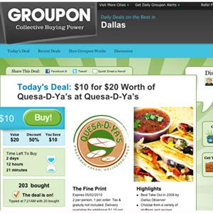 Los gastos de marketing de Groupon funcionan