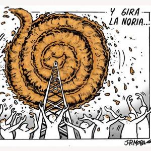 'La Noria' gira con 5 anuncios en 2 minutos de publicidad: Telecinco podría retirar el programa esta semana