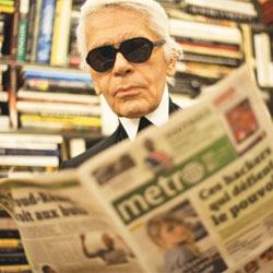 Karl Lagerfeld será redactor jefe por un día del diario gratuito