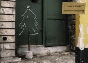 20 anuncios inspirados en árboles de Navidad