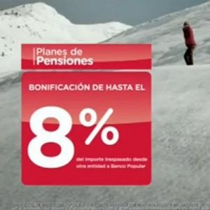 Deportistas de élite para una campaña de planes de pensiones del Banco Popular