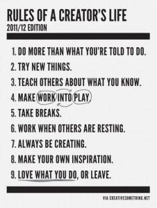 Las 9 reglas de las personas creativas