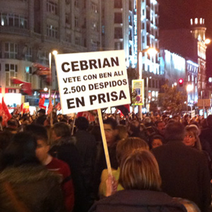 La crisis del sector periodístico deja cerca de 3.000 afectados en Madrid