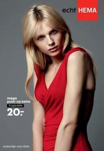 ¿Locura o genialidad? Un modelo masculino anuncia sujetadores de una marca holandesa