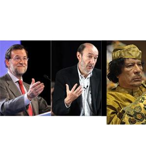 Rajoy, Rubalcaba y Gadafi: los 3 personajes que más informaciones han generado en 2011