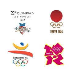 La Evolucion De Los Logos De Los Juegos Olimpicos De 1932 A 2012