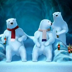 Los osos polares de Coca-Cola reaccionarán a la Super Bowl en directo.