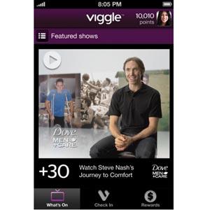 Unilever utiliza la aplicación Viggle para la nueva campaña de Dove Men + Care