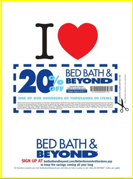 Bed Bath and Beyond Coupons and Special Offers. April 27, 2015 ...