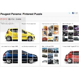 El puzzle de Peugeot o cómo hacer un uso inteligente de Pinterest