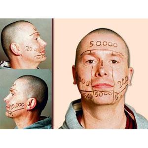 Publicidad en la cara que no es por la cara: un hombre vende su rostro a los anunciantes por 100.000 euros