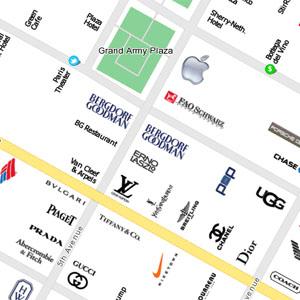 Mapas de ciudades hechos sólo con logotipos, ¿sabrías orientarte?