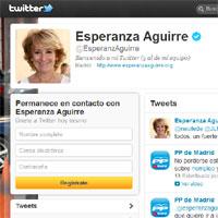 Esperanza Aguirre, la más influyente en twitter