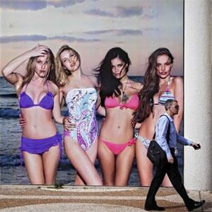 Israel pone un peso mínimo a las modelos publicitarias