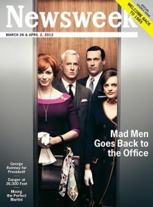 'Newsweek' vuelve a los años 60 para conmemorar lo nuevo de Mad Men