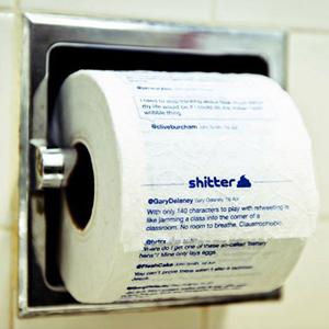 Sus tweets favoritos ahora en un rollo de papel higiénico por 26 euros