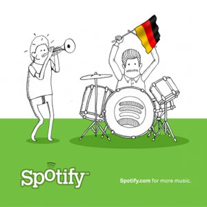 Spotify planta su bandera también en Alemania