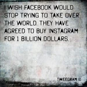 Las reacciones de Instagram a la multimillonaria compra de Facebook: porque una imagen vale más que mil palabras