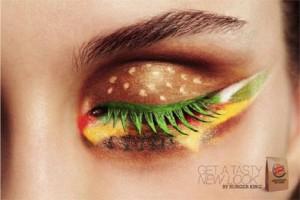 Burger King inmortaliza sus hamburguesas de queso con sombra de ojos