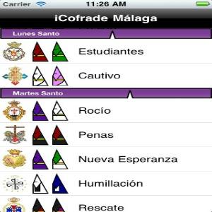 La Semana Santa también se instala en los smartphones con aplicaciones como 'iCofrade'