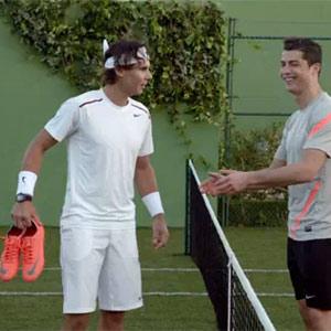 Cristiano Ronaldo y Rafa Nadal se baten en duelo en la pista de tenis de la mano de Nike