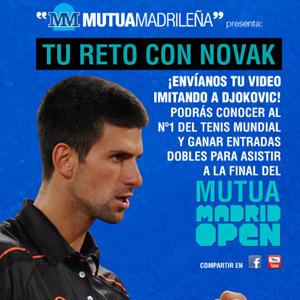 Tu reto con Novak Djokovic, exitosa acción de Mutua Madrileña en redes sociales