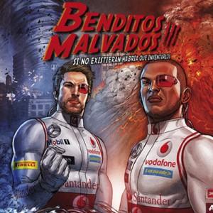 Hamilton y Button se convierten en los superhéroes del cómic 'Benditos malvados III'