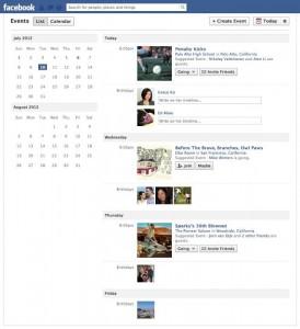 Facebook le da un giro a los eventos y crea el calendario social al estilo del Calendar de Google