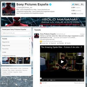 Sony Pictures Releasing lanza la cuenta Premium de Twitter en nuestro país para promocionar 'The Amazing Spider-man'