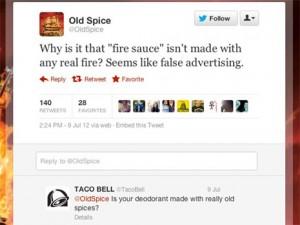 Old Spice y Taco Bell se tiran de los pelos en Twitter