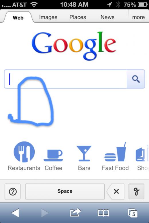 Ahora en Google se busca escribiendo a mano