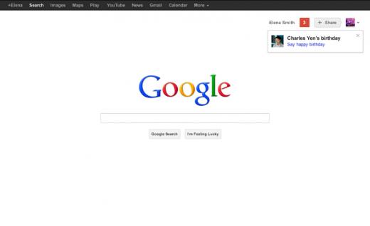 Google nos recordará los cumpleaños antes de comenzar a realizar cualquier tipo de búsqueda en su web