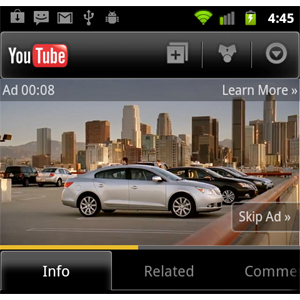 YouTube estrena anuncios móviles en vídeo que se pueden saltar