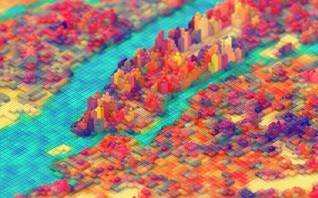 Lo nuevo de Lego viene en forma de mapa en 3D y totalmente detallado de las calles de Nueva York