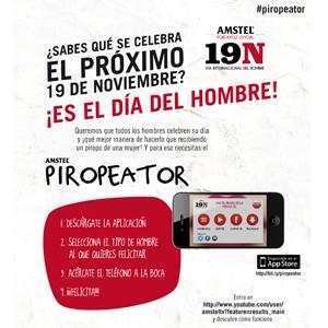 AMSTEL, portavoz oficial de las cosas que les gustan a los hombres,  promueve  la celebración del Día Internacional del Hombre en España