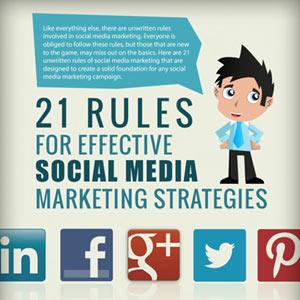 21 reglas para una estrategia efectiva de marketing en los social media
