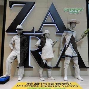 """Greenpeace pone a Zara en el punto de mira en una campaña global contra la """"desintoxicación"""" de la moda"""