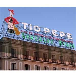 El cartel del t o pepe se quedar finalmente en la puerta for Puerta del sol en directo ahora