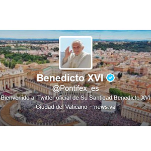 Benedicto XVI vuelve a Twitter diciendo: