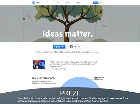 """54 ejemplos de cómo una """"homepage"""" puede deslumbrar al internauta"""