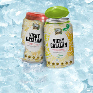 Vichy Catalán lanza la única agua mineral envasada en lata