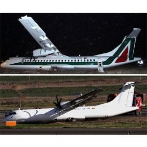 Alitalia: un aterrizaje forzoso y una misteriosa desaparición de logotipo