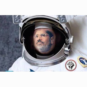 El Movimiento 6 de abril quiere mandar a Mursi al espacio con Axe