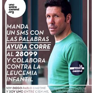 Diego Pablo Simeone presenta la campaña 'Proyecto Corre contra la leucemia infantil'
