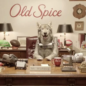 Un perro lobo se convierte en el nuevo director de marketing de Old Spice