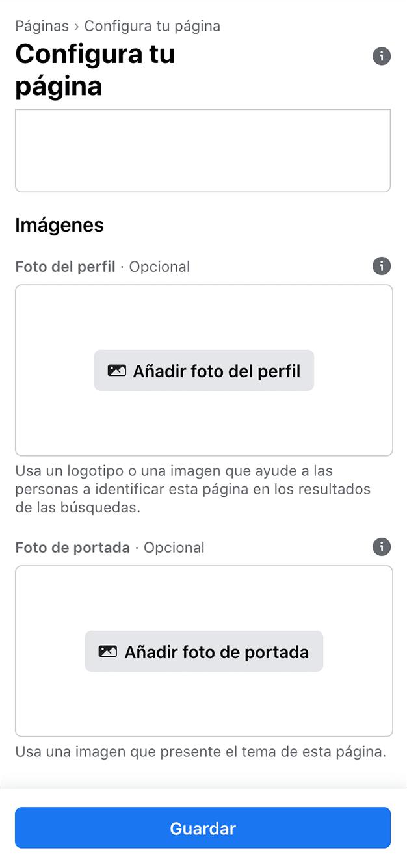 configuración imagen facebook negocio